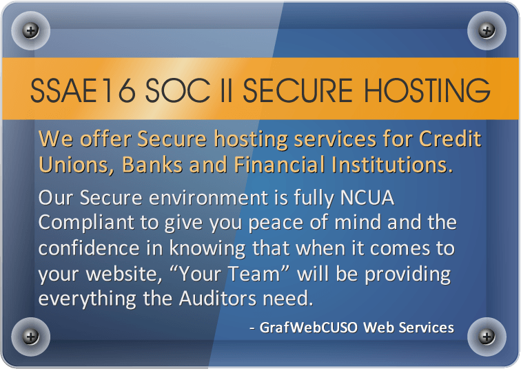 SSAE16 SOCII Secure Hosting for Credit Unions